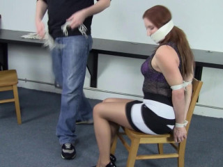 Shauna Ryanne - First-ever Day of Restrain bondage Teaching at the Office