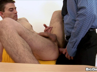 The narrow hole of the dude firmly grabs the immense manhood at the audition