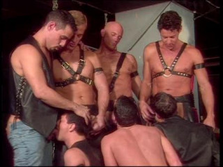 Bad Leather Fuckers In Rough Gangbang