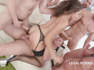 7on1 Dual Rectal Group sex With Avi Enjoy