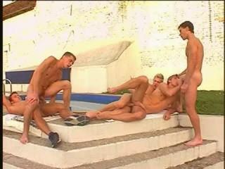European studs in hot orgies