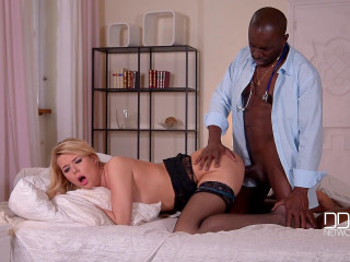 Hard-core Recovery - Doc's Ebony Dicklet Smashes Blonde's Backside