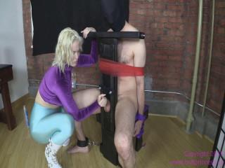 Jenna Ivory-Brat Punches Balls and Jerks Dick