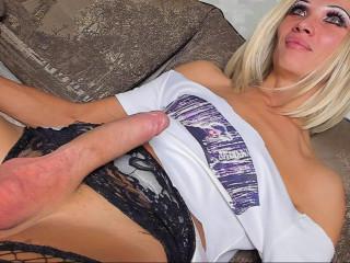 Russian Crossdresser Mari Strocking Cock