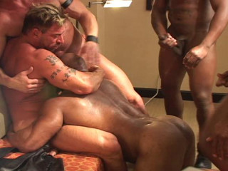 Rough Gangbang With Muscle Bears