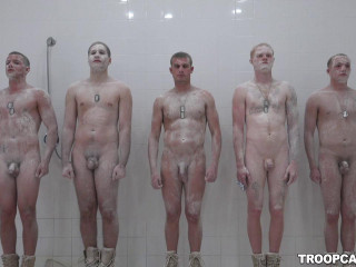 Showering Fucking With Hot Soldiers