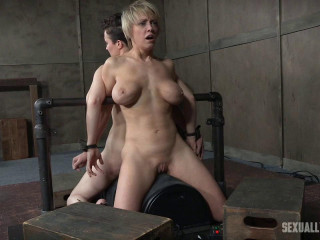 Dee Williams, Bonnie Day - Trussed and cumming on a sybian saddle while violently face fucked! (2017)
