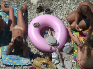 Peeped at the beach 8 - Voyeur, Naturism HD