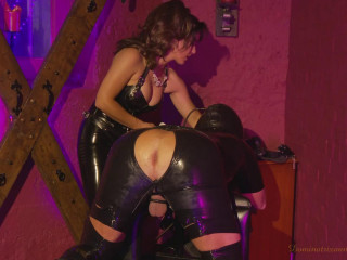 Domina fucks marionette in the bootie