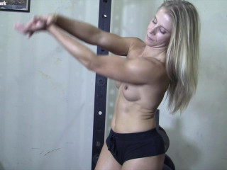 Claire - She's Nude. And You're Seeing Her From the Point of view Of Her Muscle Worshiper