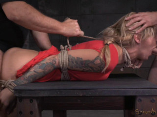 Tatted alt slut Kleio Valentien roped up and rough boinking