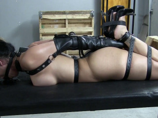 Hogtied With The New Leather Straps - Part 2 - Give Me The Ball Gag Please