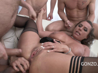 Double anal gangbang with big ass whore Sexy Susi