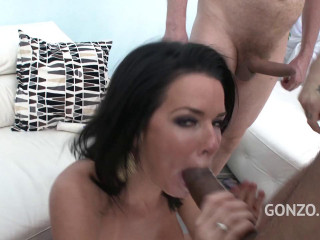 Veronica Avluv in brutish anal gangbang with Double penetration