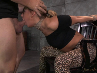 Towheaded nymph next door Carter Cruise tied up and fuckpuppet fucked from both