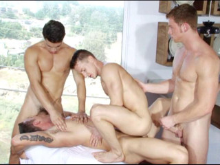 Together Gangbang With Muscle Fuckers