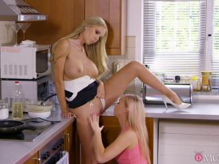 Czech step-mother slaps towheaded teenage FullHD 1080p