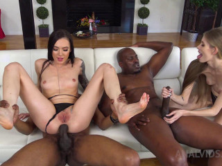 Marley Brinx & Kyaa Chimera 2on2 anal adventures with BBC and foot fetish