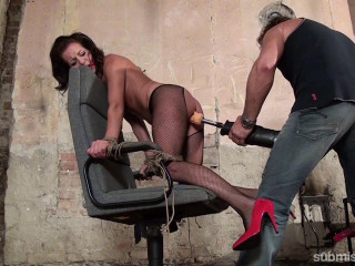 Adel Sunshine - Adel Bound To Chair and Machine-Fucked Hard