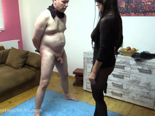 BallBusting Chicks – Donna - That's for your small dick!