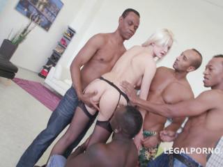 Blonde Bree Haze Gangbanged By Many Big Black Dicks