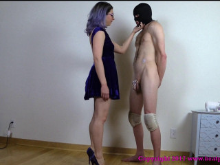 Desperate Auditioning Slave Jerks Off And Eats Cum