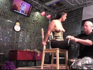 Supertightbondage - Extreme Chair Tie for Yvette