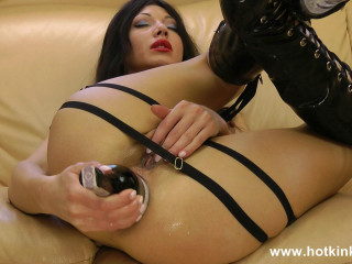 In the boots. Fucking ass with wine bottle - FullHD 1080p