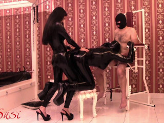 Rubberdoll is Butt-fucked While Blowing Weenie