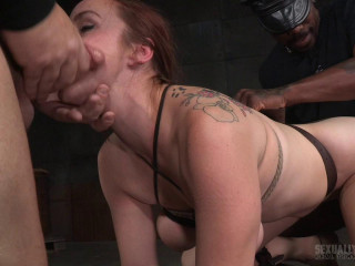 Bella Rossi Slats display resumes with raunchy doggystyle tearing up and spitting Big black cock deepthroat!