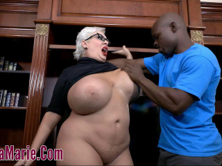 big tit milf claudia fucked by monster black cock in library 720p
