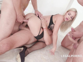 7on1 brutal gangbang with double anal