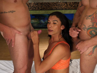 Valeria Pacheco - Double Stuffed Bareback Gangbang