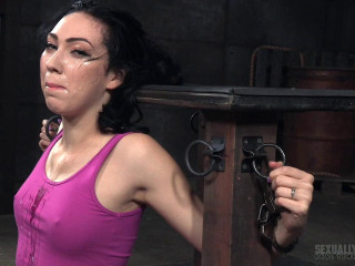 Bound Down and Throat Trained Into A Drooling Mess! - Aria Alexander - HD 720p