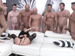 Veronica Avluv Dual Ass fucking Gang-bang