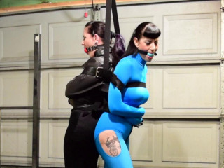 Caroline Pierce and Nyxon Two Girl Straightjacket Struggle