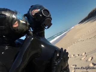 Rubber Beachwalk with MSA Gasmasks - Full HD 1080p