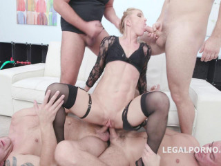 Amazing Sindy Rose Gangbanged By 8 Huge Dicks With DP, Dap & TP