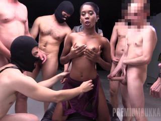 Hot Interracial Gangbang With Bukkake