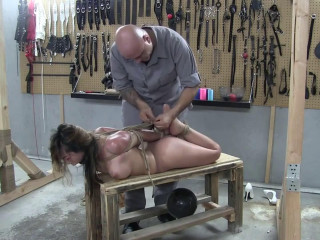 Cock-squeezing bondage, torment and frog-tie for ultra-kinky bare super-bitch Utter HD 1080p