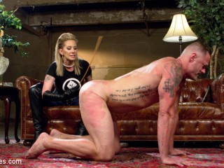 Maitresse Madeline Beef whistle Strokes Fresh Gimp With Her Evil Femdom Pussy!