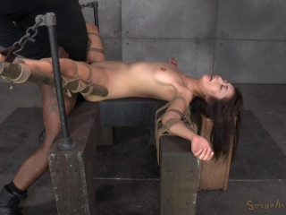 Marica Hase harshly ravaged by Ten inch Big black cock in stringent bondage, blows a load rock-hard and fast!