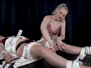 Kendra Lynn Strapped Down, Tickled, and Vibed to Bondage Orgasms