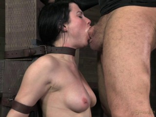 Pretty Veruca James extremely destroyed by brutal deep throat!(Mar 19,2014)