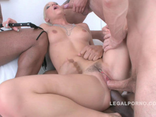Ten man anal gangbang for Blanche Bradburry (2015)