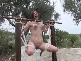 Outdoor Breast Suspension Orgasm Challenge for Zooey Zara - HD 720p
