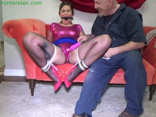 Bound, gagged & frogtied for  orgasms