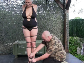Supertightbondage - Rubber Band Hogtie for Muriel LaRoja