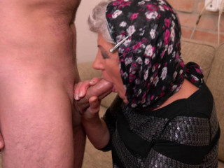 Grandma is in for a hard cock from her stud