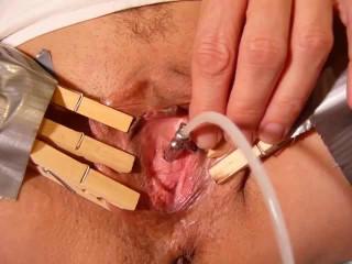 Peehole fucking with orgasm /Игры с уретрой